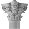 Turncraft 12-in Roman Corinthian Poly/Resin Column Cap and Base
