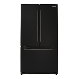 Samsung 25.8-cu ft French Door Refrigerator with Single Ice Maker (Black) ENERGY STAR