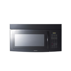 Samsung 1.7-cu ft Over-The-Range Microwave with Sensor Cooking Controls (Black) (Common: 30-in; Actual: 29.9-in)