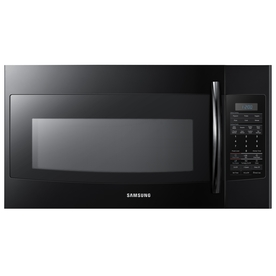 Samsung 1.8-cu ft Over-The-Range Microwave with Sensor Cooking Controls (Black) (Common: 30-in; Actual: 29.9-in)