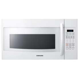 Samsung 1.8-cu ft Over-The-Range Microwave with Sensor Cooking Controls (White) (Common: 30-in; Actual: 29.9-in)