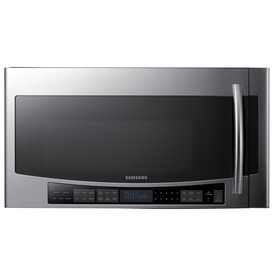 Samsung 2.1-cu ft Over-The-Range Microwave with Sensor Cooking Controls (Stainless Steel) (Common: 30-in; Actual: 29.87-in)