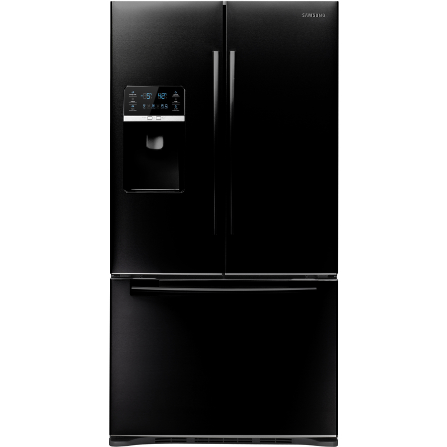 shop samsung 28 5 cu ft french door refrigerator with dual ice maker black energy star at. Black Bedroom Furniture Sets. Home Design Ideas