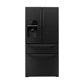 Samsung 26-cu ft French Door Refrigerator with Single Ice Maker (Black) ENERGY STAR