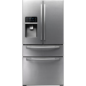 Samsung 25.5-cu ft 4-Door French Door Refrigerator with Single Ice Maker (Stainless Steel) ENERGY STAR