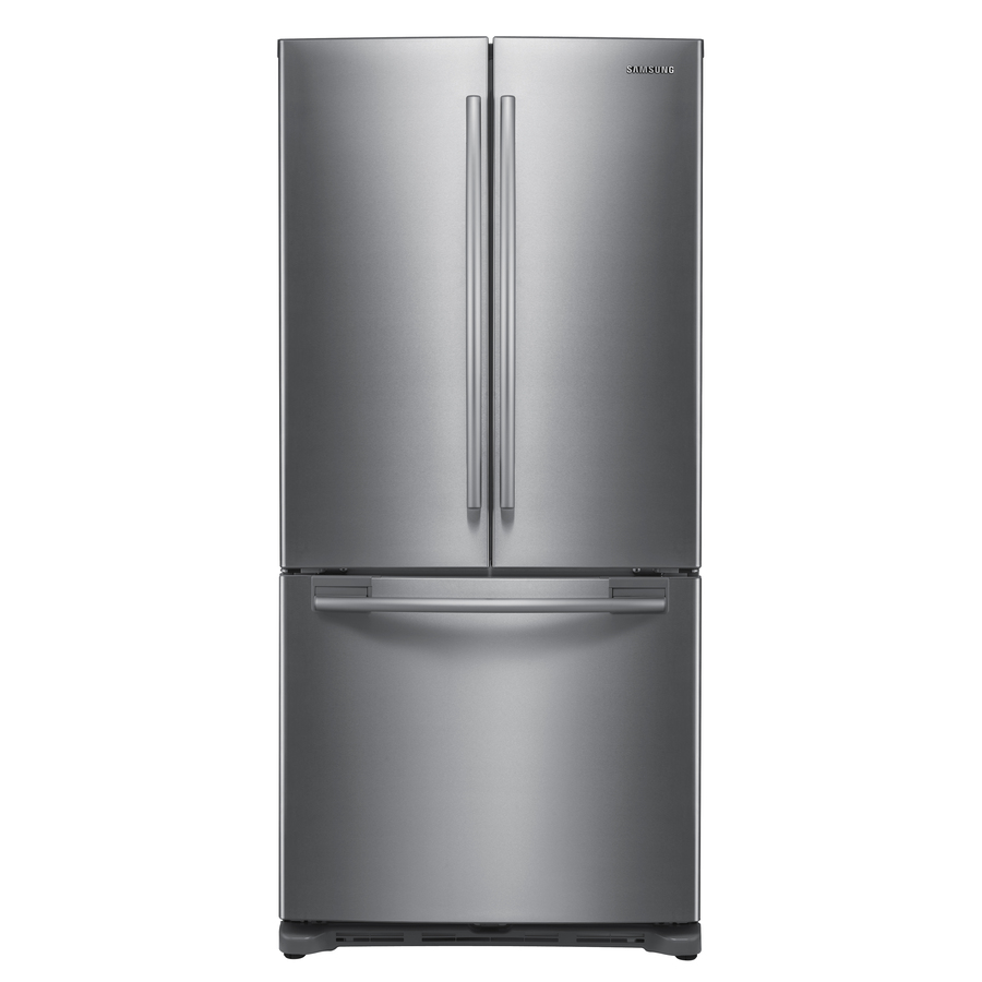 Shop samsung 19 7 cu ft french door refrigerator with single ice maker stainless steel energy for 19 cu ft refrigerator french door