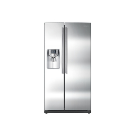 Samsung 25.5-cu ft Side-By-Side Refrigerator with Single Ice Maker (Stainless Steel) ENERGY STAR