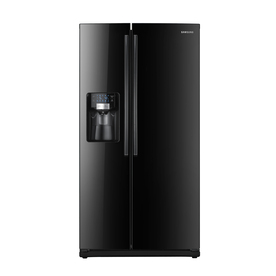 Samsung 25.5-cu ft Side-By-Side Refrigerator with Single Ice Maker (Black) ENERGY STAR