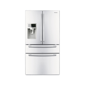 Samsung 28-cu ft French Door Refrigerator with Single Ice Maker (White) ENERGY STAR