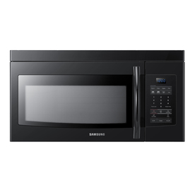 Samsung 1.6-cu ft Over-The-Range Microwave with Sensor Cooking Controls (Black) (Common: 30-in; Actual: 29.87-in)