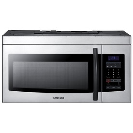 Samsung 1.6-cu ft Over-the-Range Microwave with Sensor Cooking Controls (Stainless Steel) (Common: 30-in; Actual: 29.875-in)