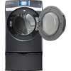 Samsung 7.5-cu ft Stackable Electric Dryer with Steam Cycles (Onyx)
