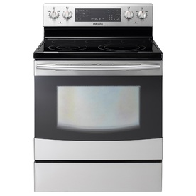 Samsung Flex Duo 30-in Smooth Surface Freestanding 5-Element 5.9 cu ft Self-Cleaning with Steam Convection Electric Range (Stainless Steel)