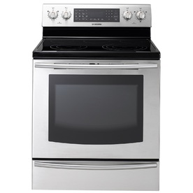 Samsung Smooth Surface Freestanding 5-Element 5.9-cu ft Self-Cleaning Convection Electric Range (Stainless Steel) (Common: 30-in; Actual: 29.90-in)