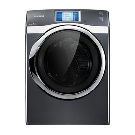 Samsung 7.5-cu ft Stackable Gas Dryer with Steam Cycles (Onyx)