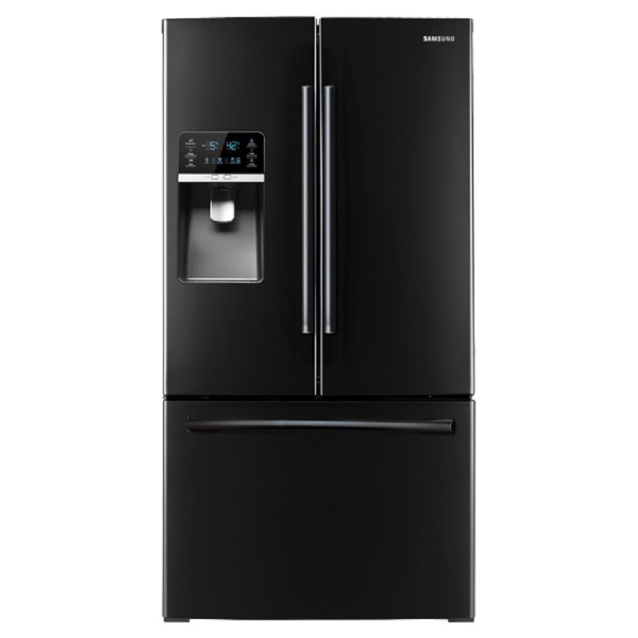 shop samsung 30 5 cu ft french door refrigerator with dual ice maker black energy star at. Black Bedroom Furniture Sets. Home Design Ideas