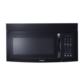 Samsung 1.6-cu ft Over-the-Range Microwave with Sensor Cooking Controls (Black)