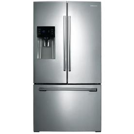Samsung 25.6-cu ft French Door Refrigerator with Dual Ice Maker (Stainless Steel)