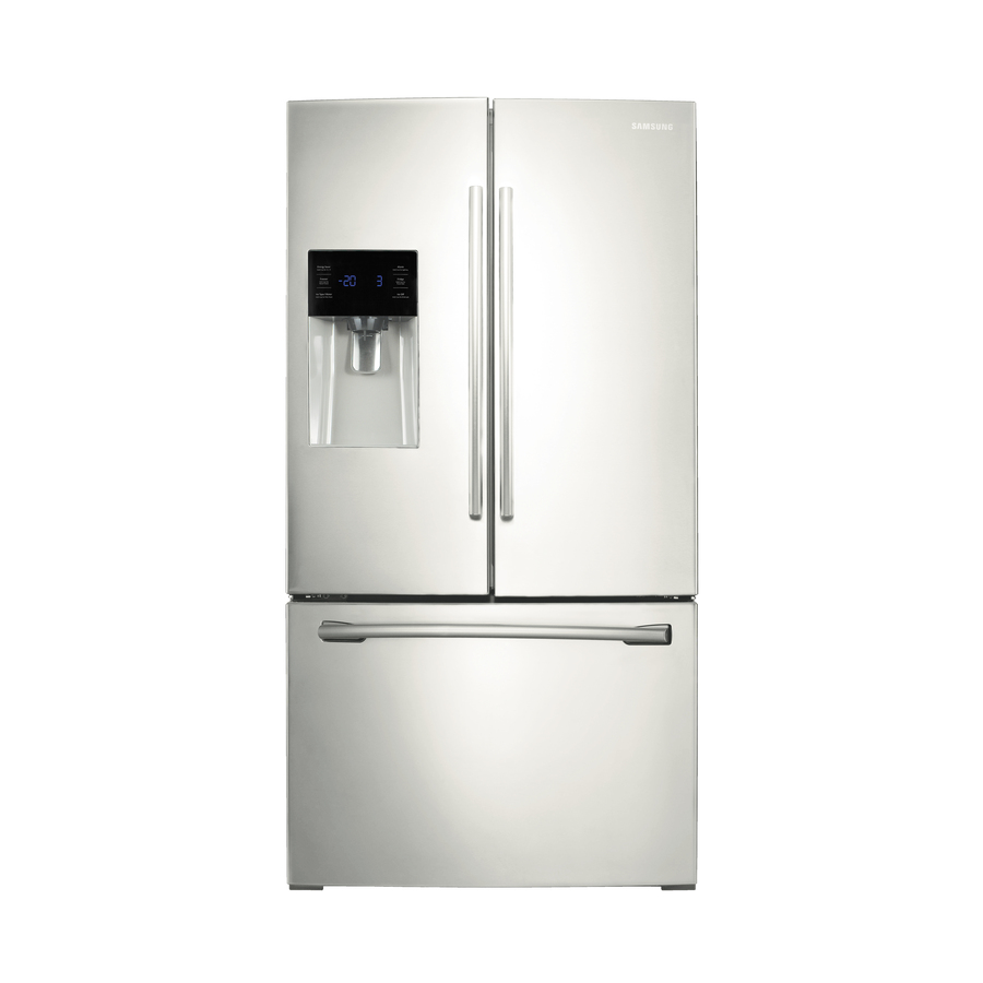 Shop Samsung 25 6 Cu Ft French Door Refrigerator With Dual