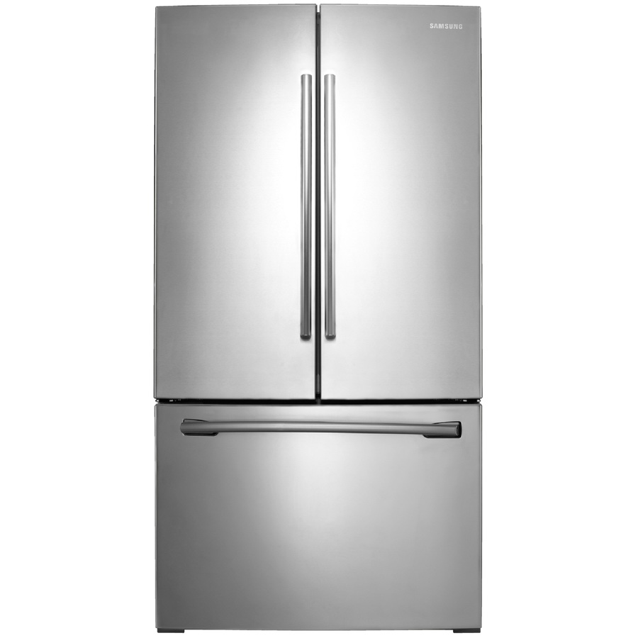 Shop Samsung 25 5 Cu Ft French Door Refrigerator With