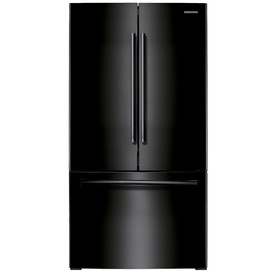 Samsung 25.5-cu ft French Door Refrigerator with Single Ice Maker (Black)