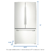 Samsung 25.5-cu ft French Door Refrigerator with Single Ice Maker (White)