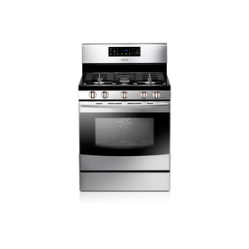Samsung Affinity 5-Burner Freestanding 5.8-cu Self-Cleaning Convection Gas Range (Stainless Steel) (Common: 30-in; Actual: 29.81-in)