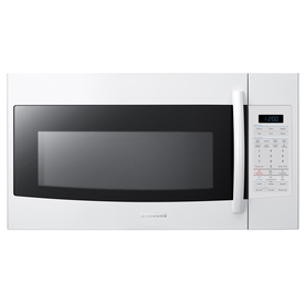 Samsung 1.9-cu ft Over-The-Range Microwave with Sensor Cooking Controls (White) (Common: 30-in; Actual: 29.87-in)
