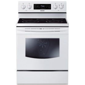 Samsung Smooth Surface Freestanding 5-Element 5.9-cu ft Self-Cleaning Convection Electric Range (White) (Common: 30-in; Actual: 29.9062-in)