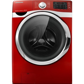 Samsung 4.3-cu ft High-Efficiency Stackable Front-Load Washer with Steam Cycle (Red) ENERGY STAR