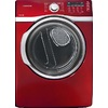 Samsung 7.4-cu ft Stackable Electric Dryer with Steam Cycles (Red)