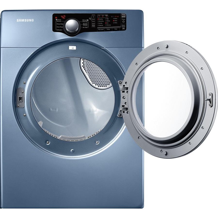 shop samsung 7 3 cu ft stackable electric dryer blue at. Black Bedroom Furniture Sets. Home Design Ideas