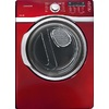 Samsung 7.4-cu ft Stackable Gas Dryer with Steam Cycles (Red)