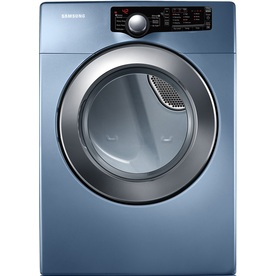 Samsung 7.3 cu ft Reversible Side Swing Gas Dryer (Blue)