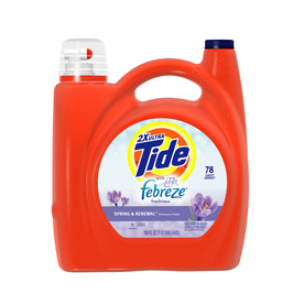 Tide Liquid 150-oz Spring and Renewal Laundry Detergent