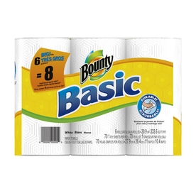 Bounty Basic 6-Pack Paper Towel Rolls