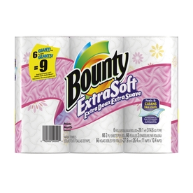 Bounty Basic 6-Pack Extra Soft Prints Giant Paper Towel Rolls