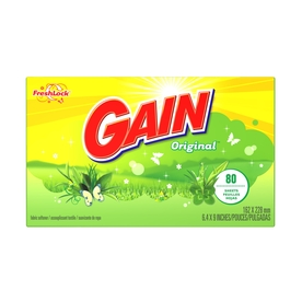 Gain 80-Count Gain Fabric Softener Sheets 3700043225