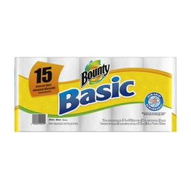 Bounty Basic 15-Pack Regular Paper Towel Rolls