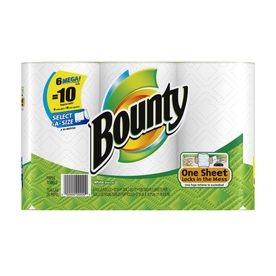 Bounty 6-Pack Mega Roll Select-A-Size Paper Towels