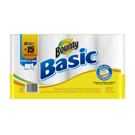 Bounty Basic 12-Count Paper Towels