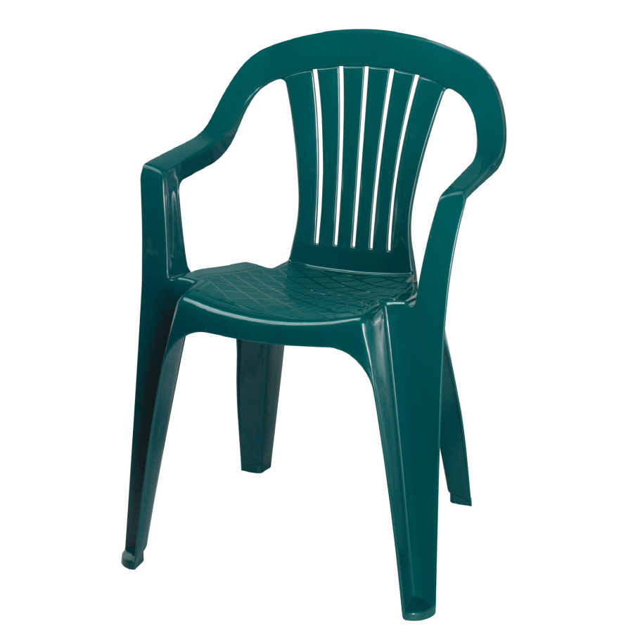 ... Hunter Green Slat Seat Resin Stackable Patio Dining Chair at Lowes.com