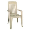 Adams Mfg Corp Desert Clay Slat Seat Resin Stackable Patio Dining Chair