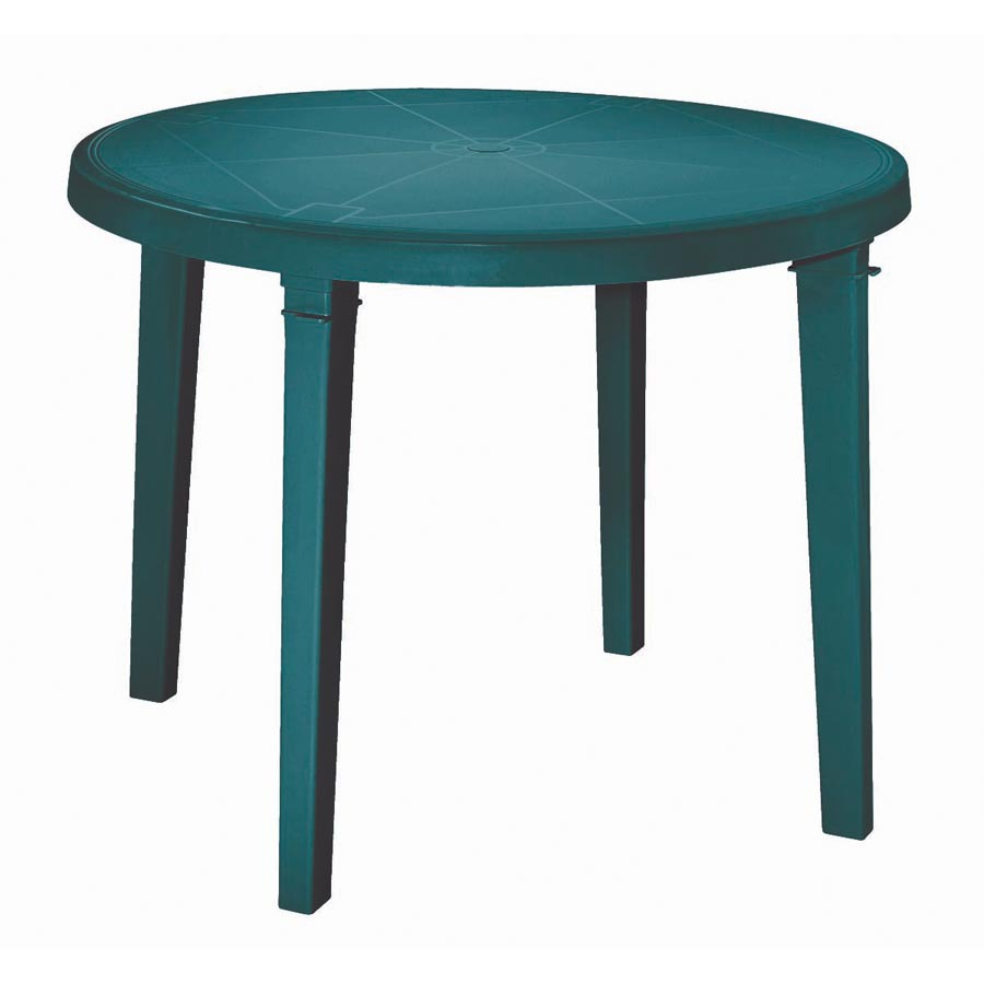 Plastic patio tables round for Patio furniture table