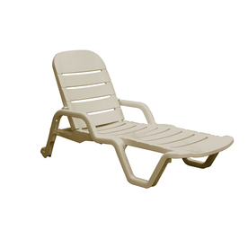 Shop adams mfg corp desert clay resin stackable chaise for Adams mfg corp white reclining chaise lounge