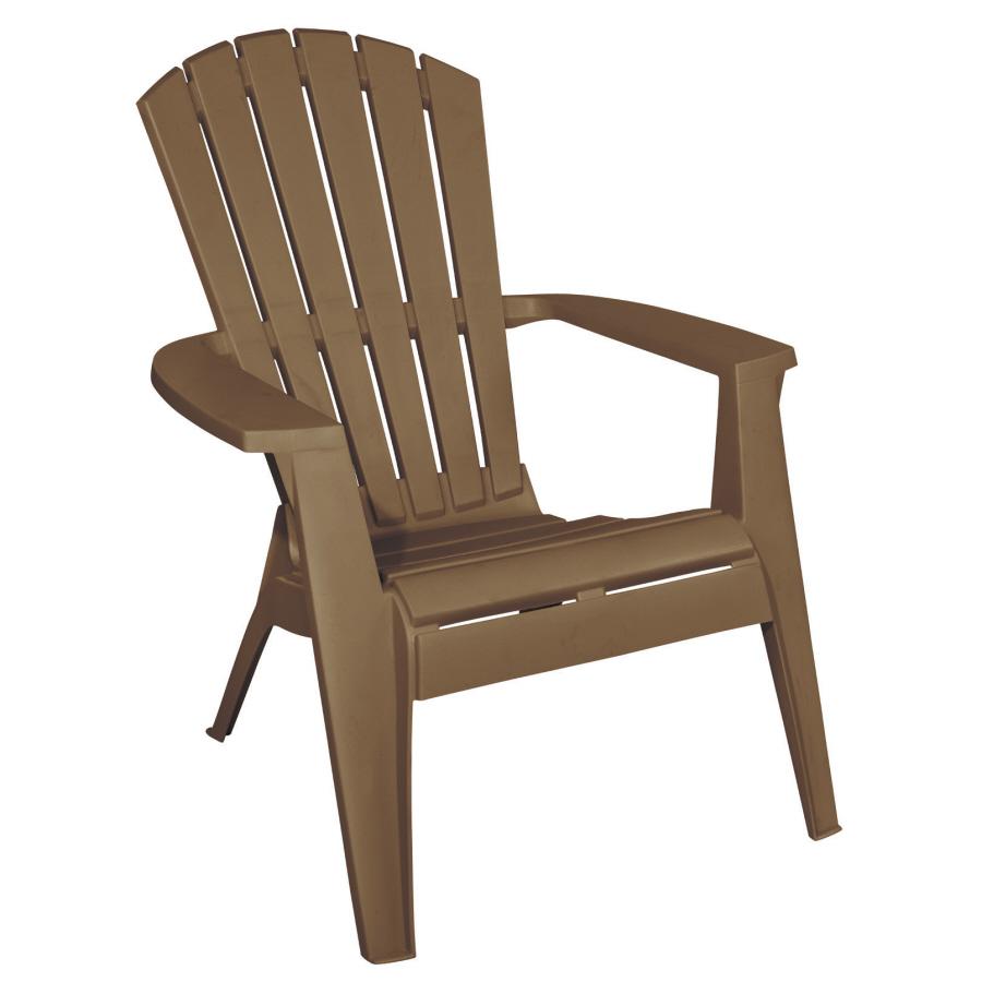 Shop Adams Mfg Corp Amesbury Brown Resin Stackable Adirondack Chair At Lowescom