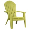 Adams Mfg Corp Green Resin Stackable Adirondack Chair
