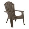 Adams Mfg Corp Earth Brown Resin Stackable Casual Adirondack Chair