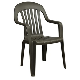 Adams Mfg Corp Earth Slat Seat Resin Stackable Patio Dining Chair