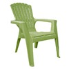 Adams Mfg Corp Green Resin Stackable Patio Adirondack Chair